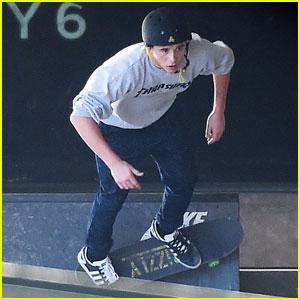 Brooklyn Beckham Shows Off Serious Skateboarding Skills