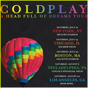 Coldplay Announces 'A Head Full of Dreams' U.S. Tour Dates - Full List!