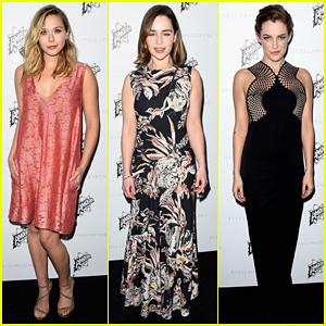 Elizabeth Olsen & Emilia Clarke Support Stella McCartney at LA Fashion Show!