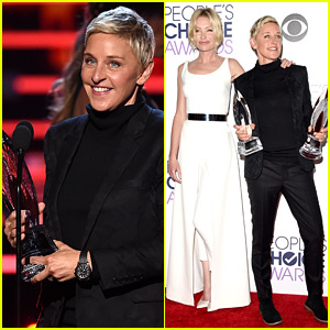 Ellen DeGeneres Brings Shirtless Chris Hemsworth Photo to People's Choice Awards 2016! (Video)