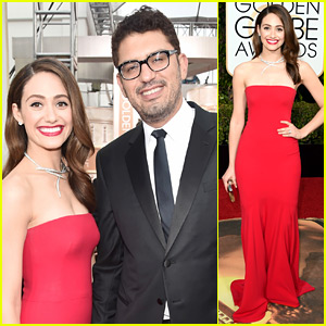 Emmy Rossum Supports Fiance Sam Esmail at Golden Globes 2016!