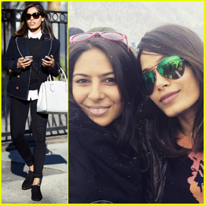 Freida Pinto Jets Off to Snowy Paradise for Fun Weekend