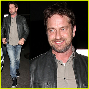 Gerard Butler Has a Night Out at Nice Guy!