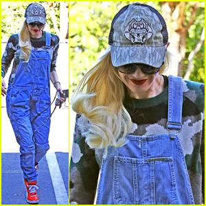Gwen Stefani Hits the Studio to Make Some Music