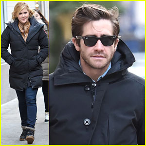 Jake Gyllenhaal Seen On Set of 'Inside Amy Schumer'