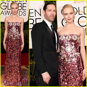 Kate Bosworth is Pretty in Pink at Golden Globes 2016