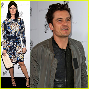 Katy Perry & Orlando Bloom Both Attend Stella McCartney Show After Golden Globes Hangout