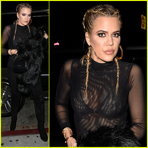 Khloe Kardashian Rocks Braided Look for Her Girls Night!