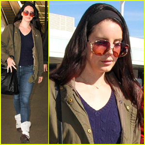 Lana Del Rey Sports a Retro Look at the Airport