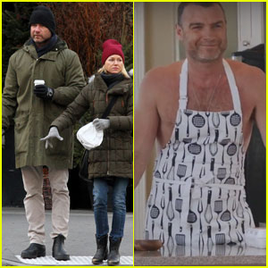Liev Schreiber Makes Hilarious Cameo on 'Saturday Night Live' - Watch His Shirtless Appearance!