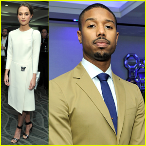 Michael B. Jordan & Alicia Vikander Dress Up for LAFCA