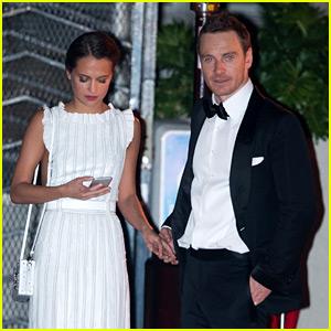 Michael Fassbender & Alicia Vikander Hold Hands at Golden Globes After Party!