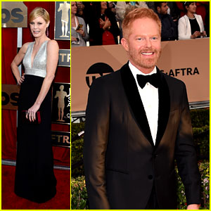Julie Bowen & Jesse Tyler Ferguson Support 'Modern Family' at SAG Awards 2016