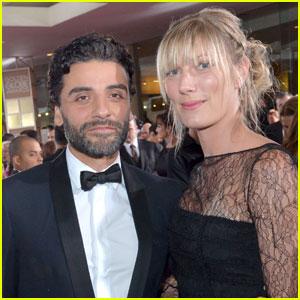 Oscar Isaac Brings Elvira Lind to Golden Globes 2016