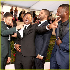 'Straight Outta Compton' Stars Beam on the Red Carpet at SAG Awards 2016