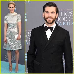 Sarah Paulson & Wes Bentley Attend Critics' Choice Awards 2016 After 'AHS: Hotel' Finale