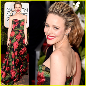 Rachel McAdams Goes Floral At Golden Globes 2016!