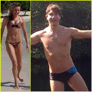 Rebecca Romijn & Jerry O'Connell Bare Hot Beach Bodies!
