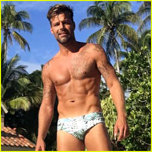 Ricky Martin Poses in a Speedo, Bares Ripped Shirtless Body!