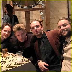 Sebastian Stan Reunites with Chace Crawford & Taylor Kitsch on New Year's Eve!