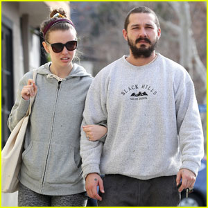 Shia LaBeouf & Mia Goth Walk Arm-in-Arm in Studio City