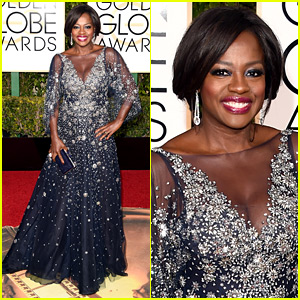 Viola Davis Shines on the Golden Globes 2016 Red Carpet!