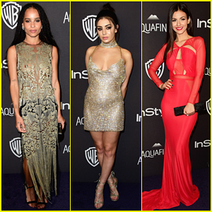 Zoe Kravitz & Charli XCX Show Off Major Skin at InStyle's Golden Globes 2016 After Party!