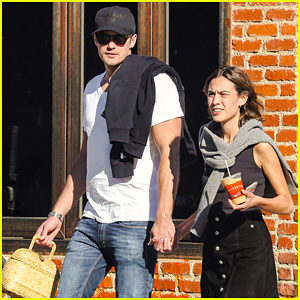 Alexander Skarsgard & Alexa Chung Hold Hands on Their Day Date!