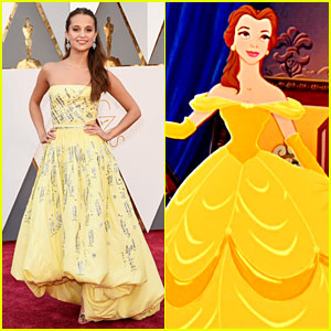 Alicia Vikander Looks Like Belle in Oscars 2016 Dress!