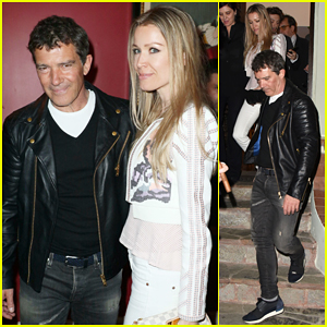 Antonio Banderas & Girlfriend Nicole Kimpel Couple Up For Avi Lerner Dinner Party!