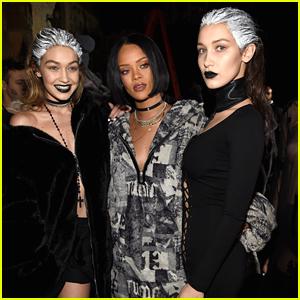 Bella & Gigi Hadid Dye Hair White for Rihanna's Puma Fashion Show at NYFW
