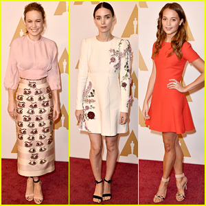 Brie Larson & Alicia Vikander Step Out for Oscar Nominees 2016 Luncheon
