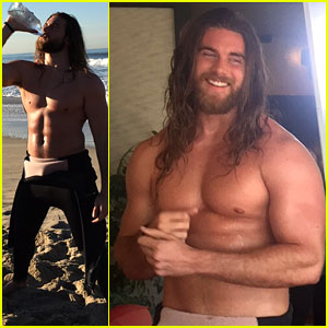 Brock O'Hurn's Man Bun Is Front & Center for Icelandic Glacial Water's New Commercial!