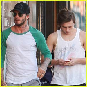 94ae23b5bb David Beckham   Son Brooklyn Spend Super Bowl Weekend Together