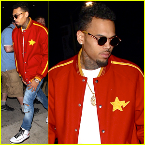 Chris Brown Hangs with His Boys on Valentine's Day