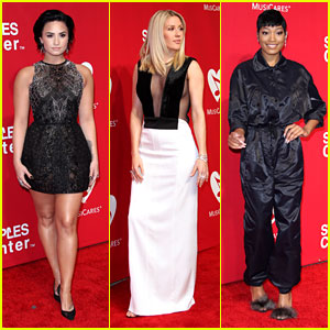 Demi Lovato & Ellie Goulding Honor Lionel Richie at MusiCares Event