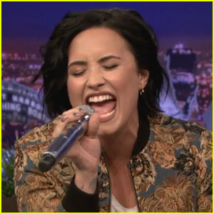 Demi Lovato Slays Christina Aguilera Impression for Fallon's 'Wheel of Musical Impressions' Game (Video)