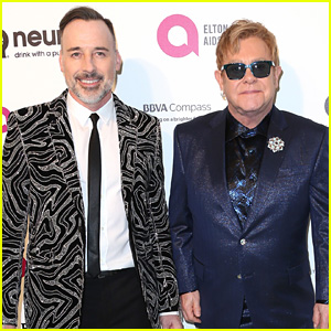 Elton John & Husband David Furnish Host Annual Oscar Viewing Party!
