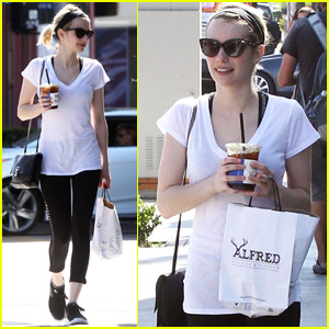 Emma Roberts Works on 'Top Secret Shoot'