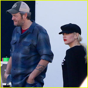 Blake Shelton & Gwen Stefani Hit the Studio Together