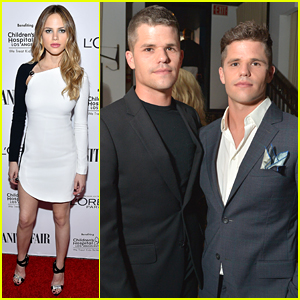 Halston Sage Hits Vanity Fair's DJ Night with Max & Charlie Carver