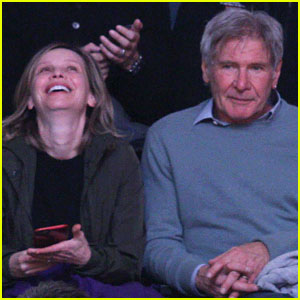Harrison Ford Has a Family Day at Lakers Game with Calista Flockhart