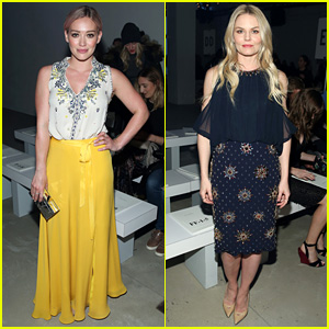 Hilary Duff & Jennifer Morrison Sit Front Row at Jenny Packham's NYFW 2016 Show!