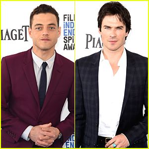 Rami Malek Joins Nikki Reed & Ian Somerhalder at Independent Spirit Awards 2016