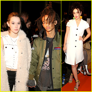 Jaden Smith & Girlfriend Sarah Snyder Hold Hands During NYFW Show!