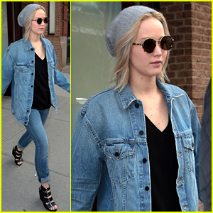 Jennifer Lawrence Steps Out in Denim on Denim in NYC