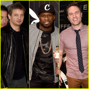 Jeremy Renner & 50 Cent Celebrate Future of Playboy at Super Bowl Party