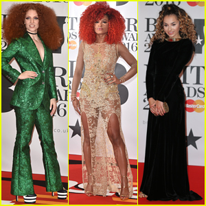 Jess Glynne Glitters In A Green Suit at BRITs 2016