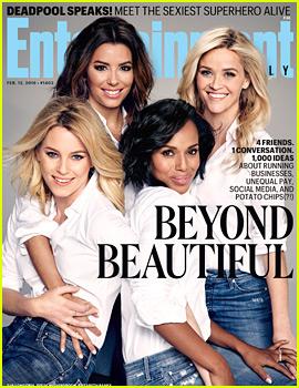 Kerry Washington, Reese Witherspoon, Elizabeth Banks, & Eva Longoria Are Beyond Beautiful for 'EW'