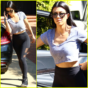 Kourtney Kardashian Has A Night Out With Scott Disick